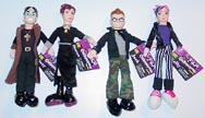 "Ozzy The Osbourne Family - Complete Set of 4 Dolls 9"" Excellent"
