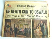 JFK Assassination newspaper for sale 1963 Oswald