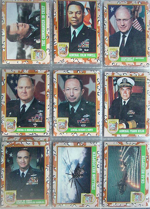 Ran Across These The Other Daydesert Storm Trading Cards